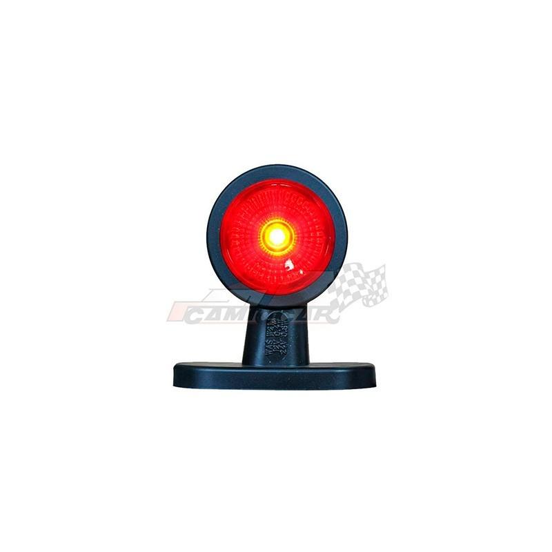 Cuerno LED corto rojo / blanco