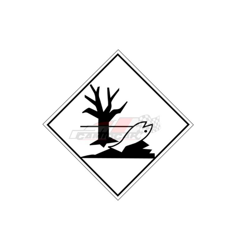 Placa contaminante medioambiental