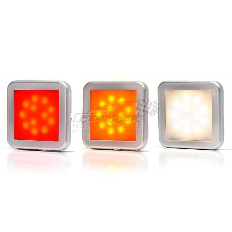 Piloto cuadrado LED posición (3 colores)