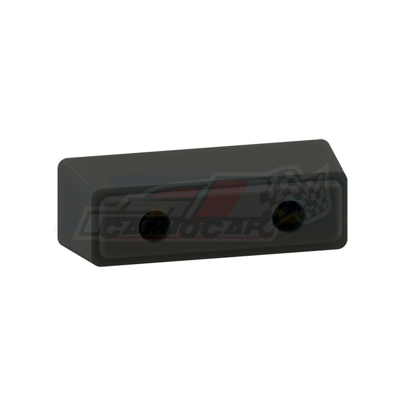 Topes y rodillos paragolpes-Tope goma 245x80x90mm