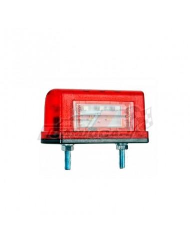 Piloto LED placa roja matrícula...