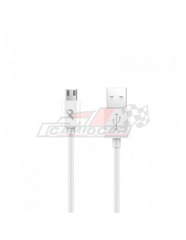 Cable USB 2.0 a Micro USB 2.4A 1m Blanco