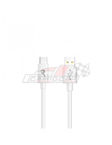Cable USB 2.0 a Tipo C 3A 1m Blanco