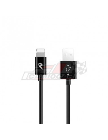 Cable USB 2.0 a Lightning 2.4A 1m Negro
