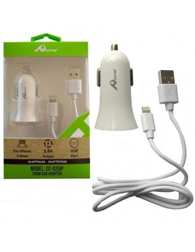 Cargador Coche USB 5V 1A + cable usb...