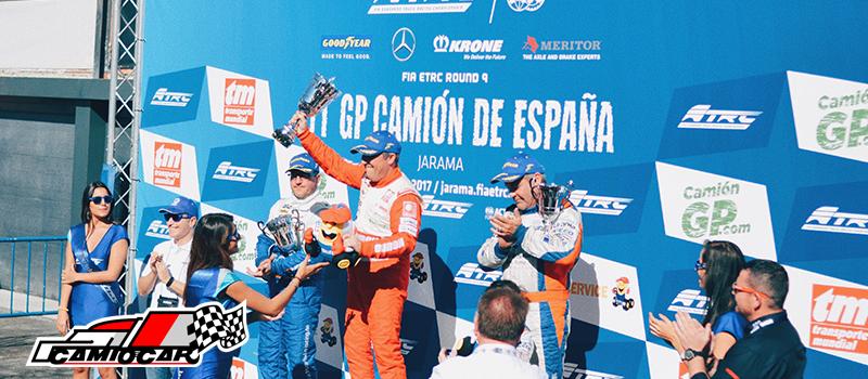 Antonio albacete podium gp camion españa